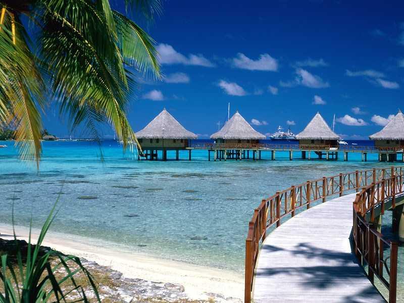 Walkway to Paradise Tiputa Rangiroa French Polynesia