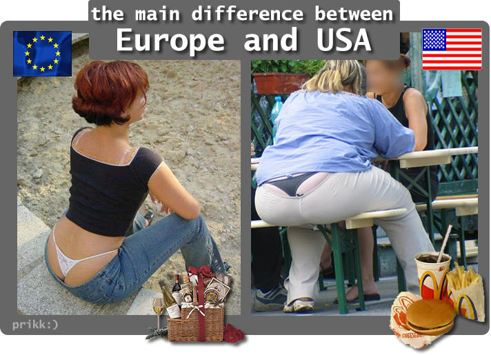 European women vs American women